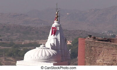 Chamunda Mataji hinduism Temple on Mehrangarh fort, in...