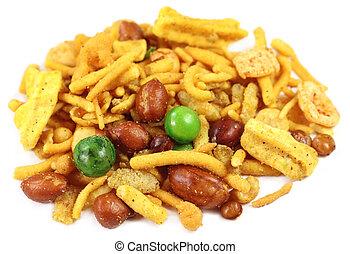 Chanachur or bombay mix