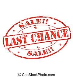 chance, último, venda