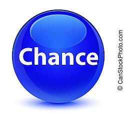 Chance glassy blue round button