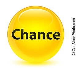 Chance glassy yellow round button