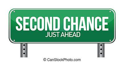 chance, sekunde, straße zeichen