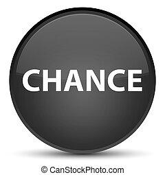 Chance special black round button