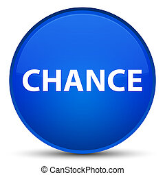 Chance special blue round button