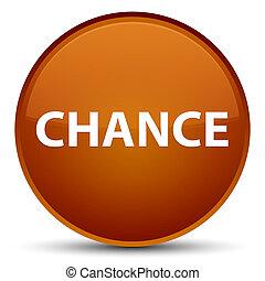 Chance special brown round button