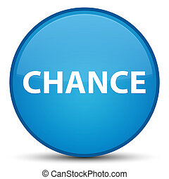 Chance special cyan blue round button
