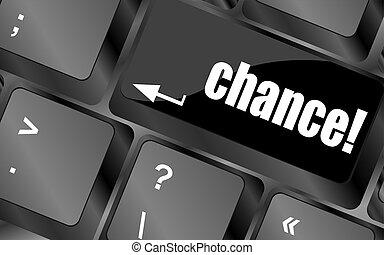 chance, taste, auf, computertastatur, schlüssel