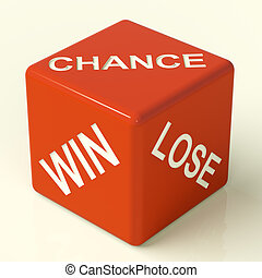 Chance Win Lose Red Dice Showing Luck And Opportunity