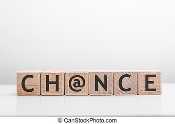 Chance word made with building blocks.