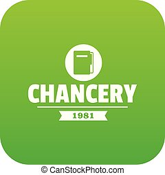 Chancery icon green vector