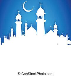 chand, mubarak, ka, usted, eid, feliz, moon), (wish