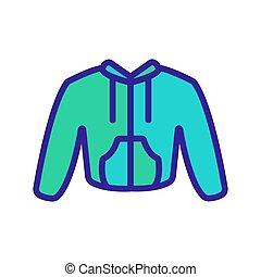 chandail, isolé, symbole, contour, illustration, vector., icône