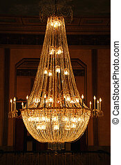Chandelier - Beautiful chandelier in a hotel lobby