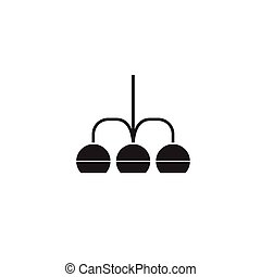 Chandelier black vector concept icon. Chandelier flat illustration, sign