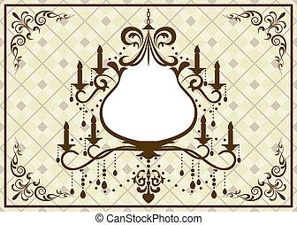 Chandelier brown frame