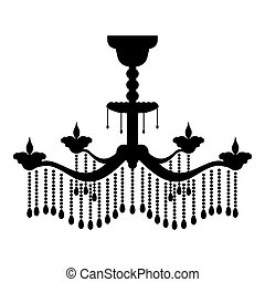 Chandelier icon black color vector illustration flat style image