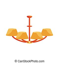 Chandelier icon in cartoon style