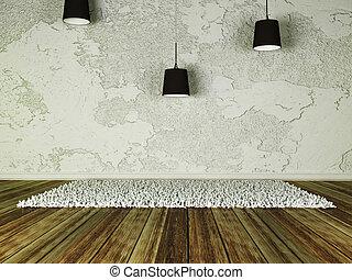 chandelier in an empty room