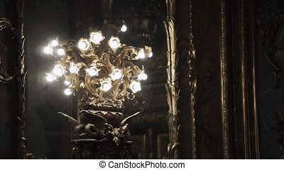 Chandelier in palace - Chandelier lamp in luxury palace