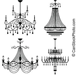 Chandelier lamp vector