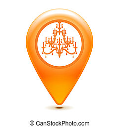 chandelier pointer icon on a white background
