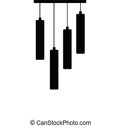 chandelier roll silhouette black vector