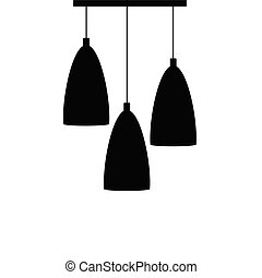 chandelier set silhouette black vector