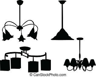 Chandelier silhouette