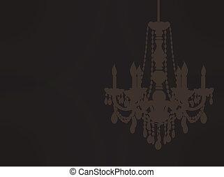 chandelier sillhouette EPS10