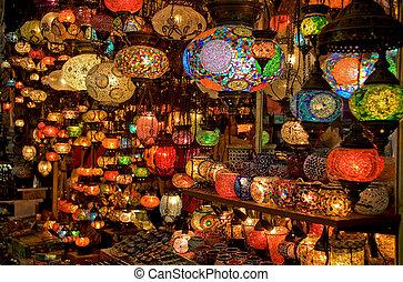 chandeliers, lâmpadas