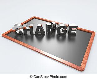 Change 3d word concept