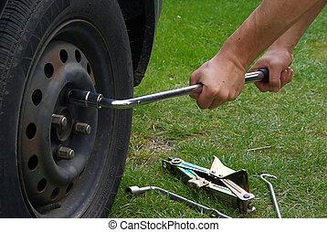 change a tire 02