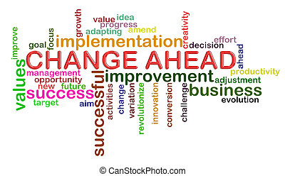 Change ahead word tags - Illustration of wordcloud word tags...