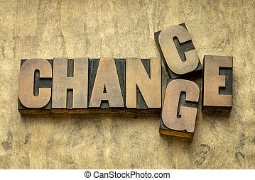 change and chance concept in wood type