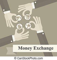 change argent, signes main