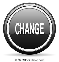 change black circle glossy web icon
