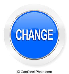 change blue glossy web icon