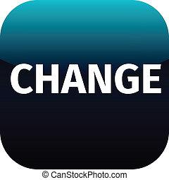 change blue web icon