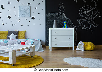Change child room into an outer space - Child room in...