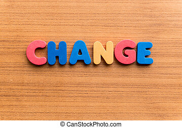change colorful word