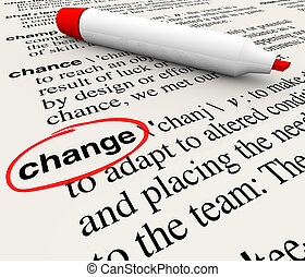 Change Dictionary Definition Word Adapt Evolve - A ...