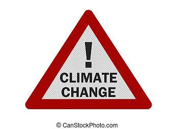 change', foto, isolado, realístico, 'climate, sinal, branca