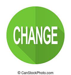 change green flat icon