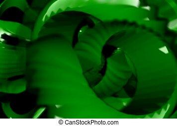 change, green, spiral