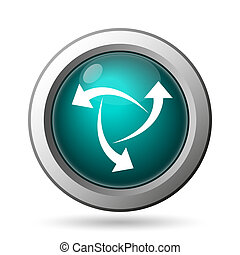 Change icon. Internet button on white background.