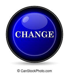 Change icon. Internet button on white background.