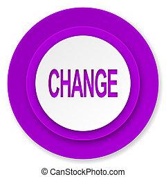 change icon, violet button