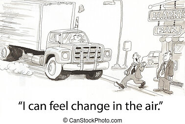 Change in the air - Steps in front of truck on first day