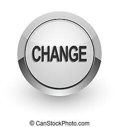 change internet icon - silver chrome glossy web icon