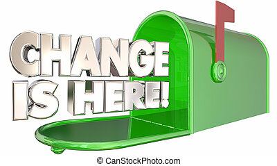 Change is Here Mailbox Message Alert Adapt 3d Illustration